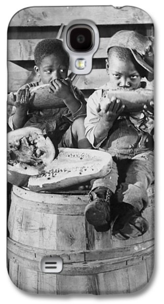 Two Boys Eating Watermelon Galaxy S4 Case by Underwood Archives