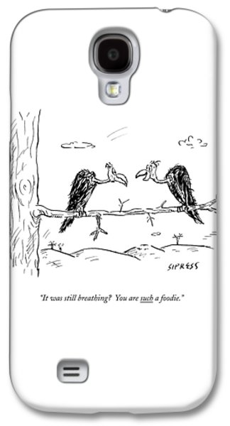 Two Buzzards Sit And Talk On A Branch Galaxy S4 Case