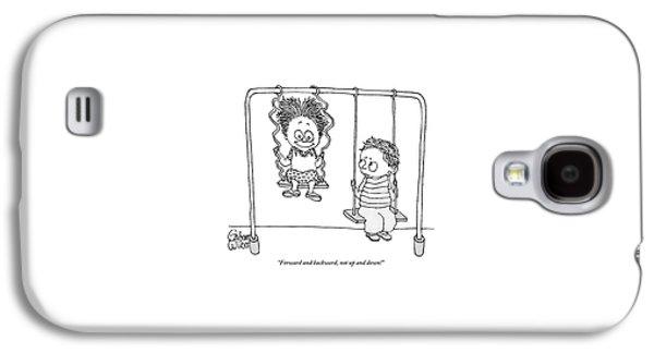 Two Children Sit On Swings Galaxy S4 Case