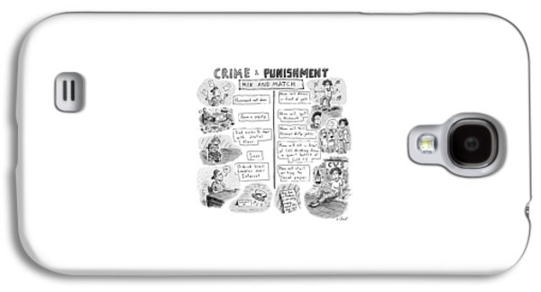 Two Columns Contain Entries. The Left Column Galaxy S4 Case by Roz Chast