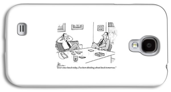 Two Executives In Suits Sit At A Business Table Galaxy S4 Case by Leo Cullum