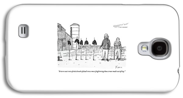 Two Farmers Stand Next Two Five Dead Crows Galaxy S4 Case