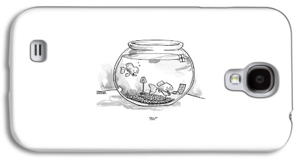 Two Fish Are In A A Fish Bowl. One Galaxy S4 Case
