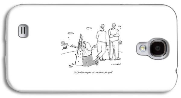 Two Golfers Speak To A Man Galaxy S4 Case