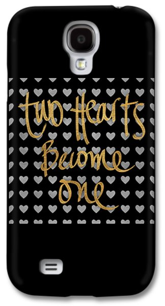 Two Hearts Become One Pattern Galaxy S4 Case by South Social Studio