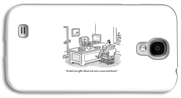 Two Men In An Office. One Is Sitting Galaxy S4 Case by Robert Leighton