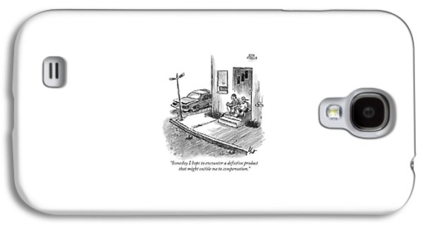 Two Men In Street Clothes Are Sitting Galaxy S4 Case by Frank Cotham
