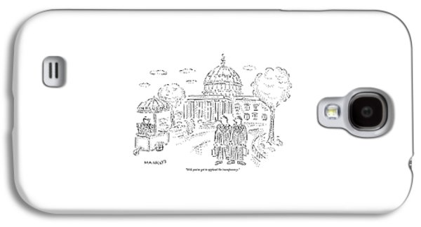 Two Men Speak In Front Of The Capitol And Look Galaxy S4 Case by Robert Mankoff