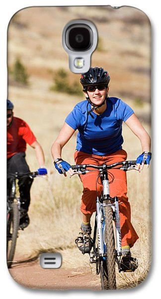 Fort Collins Galaxy S4 Case - Two Mountain Bikers Riding In Lory by Tom Bol