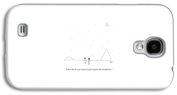 Two People Look At The Stars Galaxy S4 Case