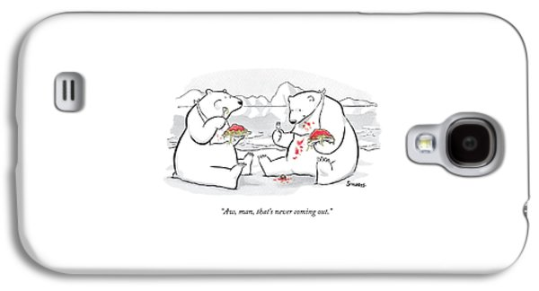 Two Polar Bears Eat Spaghetti And Meatballs.  One Galaxy S4 Case