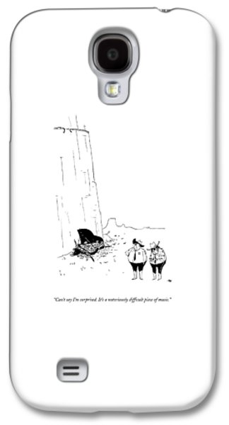 Two Police Officers Survey The Wreckage Galaxy S4 Case by Edward Steed