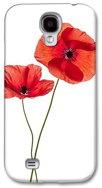 Two Poppy Flowers Galaxy S4 Case