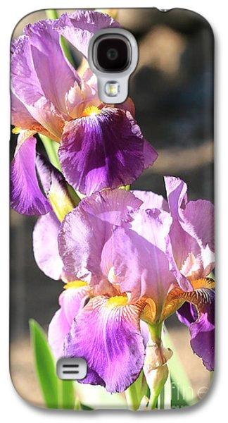 Two Purple Irises Galaxy S4 Case by Carol Groenen
