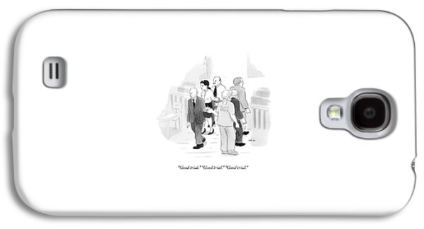 Two Rows Of Three People High Five Each Other Galaxy S4 Case
