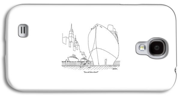 Two Sailors Are Speaking To Each Other Galaxy S4 Case by Jack Ziegler