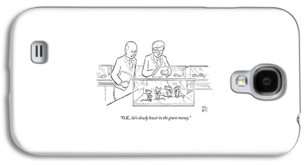 Two Scientists In Lab Coats Observe A Group Galaxy S4 Case by Paul Noth