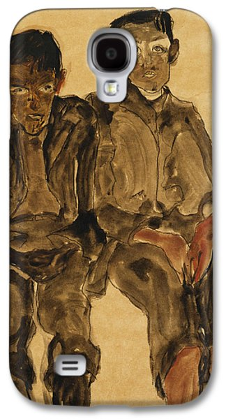 Two Seated Boys Galaxy S4 Case