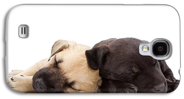 Two Sleeping Puppies Laying Together  Galaxy S4 Case by Susan Schmitz