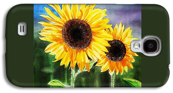 Two Suns Sunflowers Galaxy S4 Case