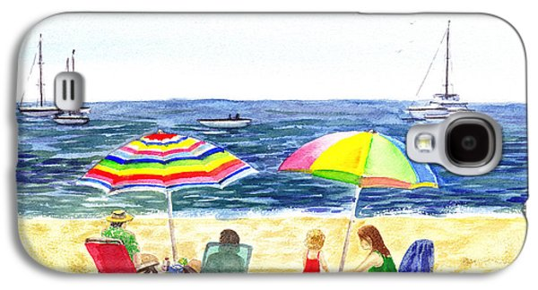 Two Umbrellas On The Beach California  Galaxy S4 Case