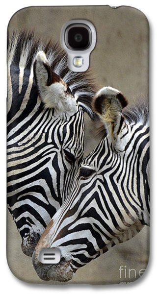 Two Zebras Galaxy S4 Case by Mark Newman