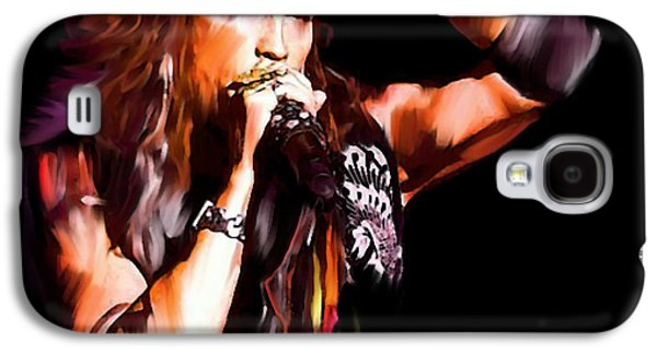 Steven Tyler Galaxy S4 Case -  Steven Tyler  Tyler II by Iconic Images Art Gallery David Pucciarelli