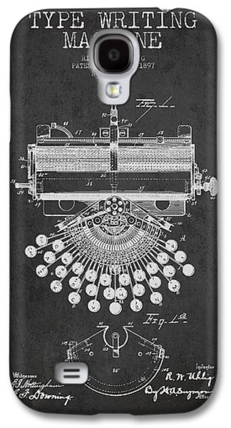 Type Writing Machine Patent Drawing From 1897 - Dark Galaxy S4 Case by Aged Pixel