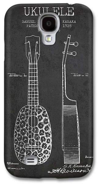 Ukulele Patent Drawing From 1928 - Dark Galaxy S4 Case