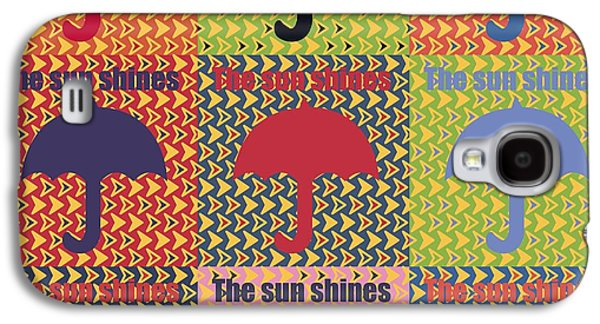 Umbrella In Pop Art Style Galaxy S4 Case by Tommytechno Sweden