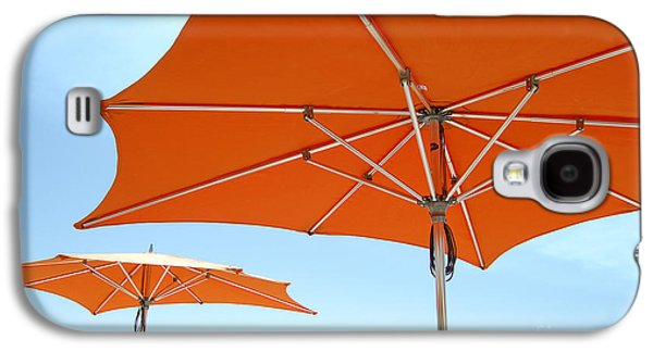 Umbrellas And Wharf Galaxy S4 Case by Debra Thompson