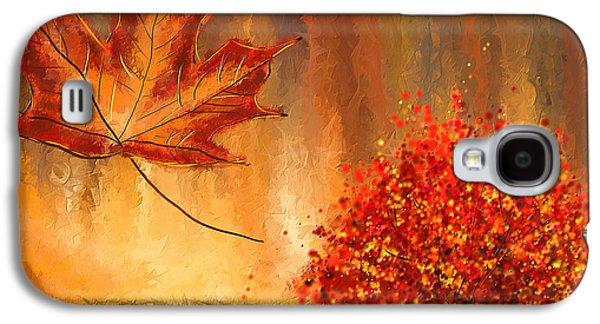 Undeniably Autumn- Autumn Impressionist Painting Galaxy S4 Case