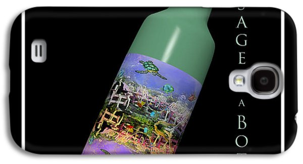 Under The Sea Message In A Bottle Galaxy S4 Case by Betsy Knapp