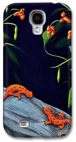 Newts Galaxy S4 Case - Understory by Danielle R T Haney