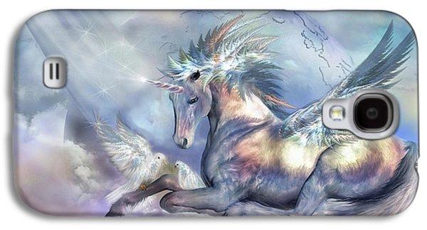 Unicorn Of Peace Galaxy S4 Case by Carol Cavalaris