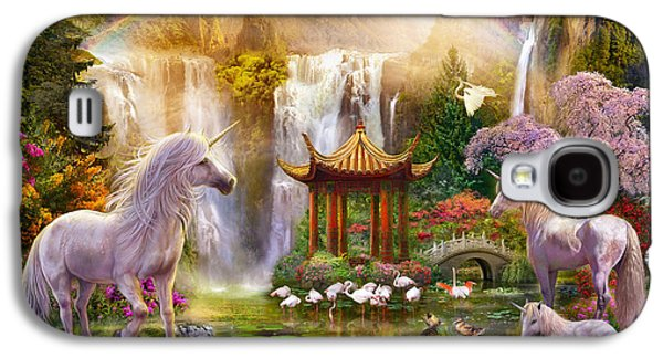 Unicorn Valley Of The Waterfalls Galaxy S4 Case by Jan Patrik Krasny