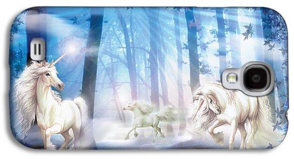 Unicorns Galaxy S4 Case by Zorina Baldescu