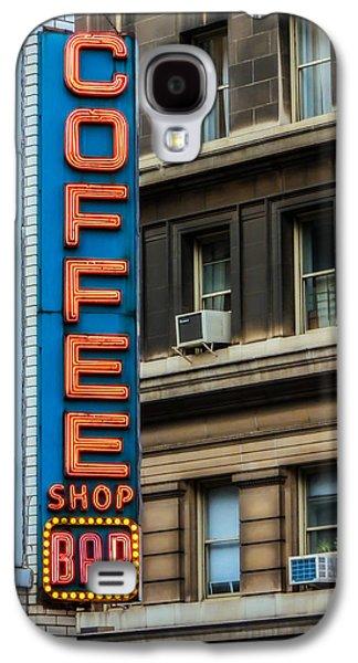 Union Square Coffee Shop Sign Galaxy S4 Case by Jon Woodhams