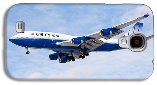 United Airlines Boeing 747 Airplane Landing Galaxy S4 Case