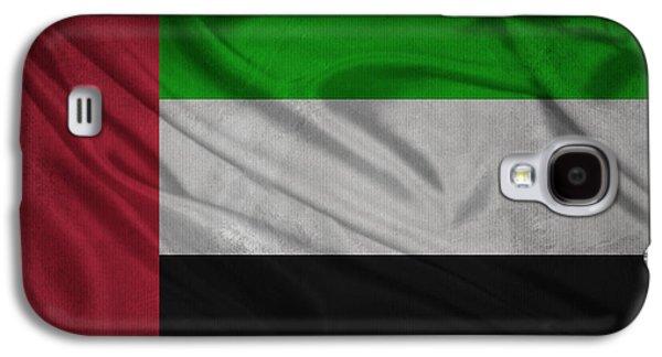 United Arab Emirates Flag Waving On Canvas Galaxy S4 Case by Eti Reid