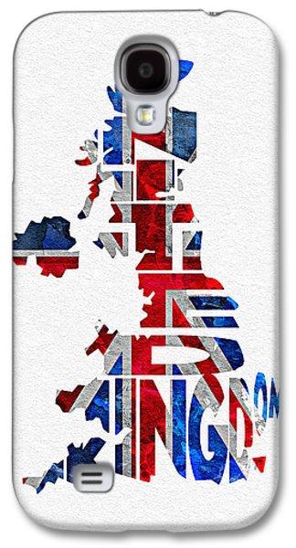 United Kingdom Typographic Kingdom Galaxy S4 Case