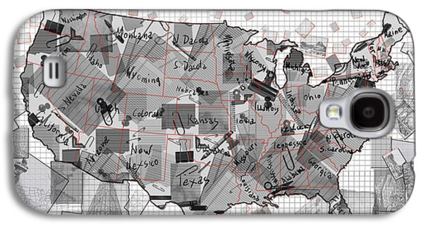 United States Map Collage 3 Galaxy S4 Case