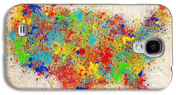 United States Splat Color Map  Galaxy S4 Case