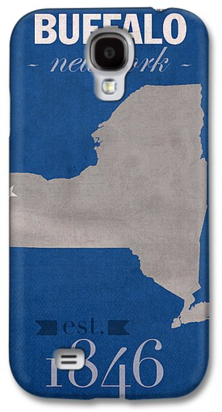 University At Buffalo New York Bulls College Town State Map Poster Series No 022 Galaxy S4 Case by Design Turnpike