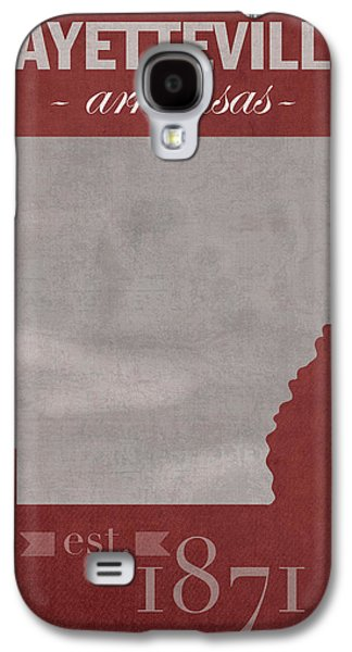 University Of Arkansas Razorbacks Fayetteville College Town State Map Poster Series No 013 Galaxy S4 Case by Design Turnpike