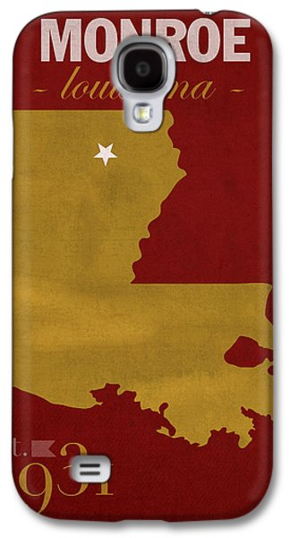 University Of Louisiana Monroe Warhawks College Town State Map Poster Series No 058 Galaxy S4 Case