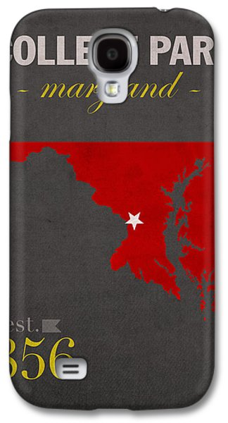 University Of Maryland Terrapins College Park College Town State Map Poster Series No 061 Galaxy S4 Case by Design Turnpike