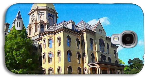 University Of Notre Dame Watercolor Galaxy S4 Case
