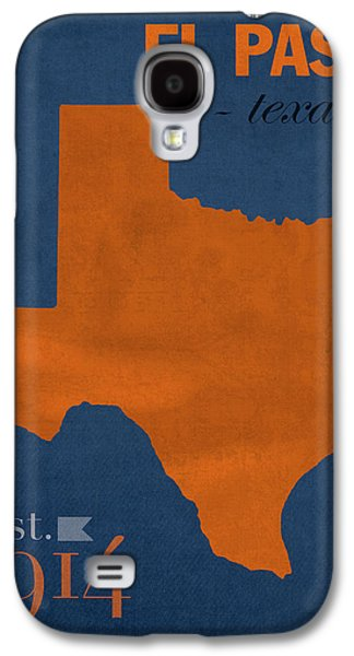 University Of Texas At El Paso Utep Miners College Town State Map Poster Series No 110 Galaxy S4 Case by Design Turnpike