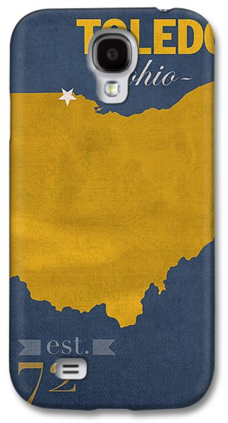 University Of Toledo Ohio Rockets College Town State Map Poster Series No 112 Galaxy S4 Case by Design Turnpike